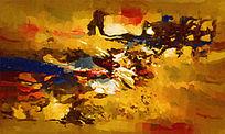 酒店装饰画 客厅抽象油画