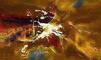 色块抽象油画 抽象线条
