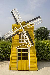 公园黄色风车