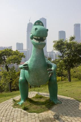 公园卡通恐龙雕像