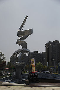 广场雕塑升腾
