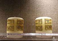刻古代吉祥图案蜡烛