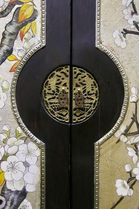 铜雕仿古柜锁扣