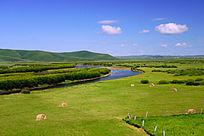河湾牧场风景