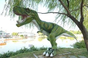 卡通恐龙塑像