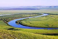 蓝色河湾牧场风景
