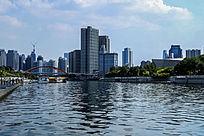 城市河流及建筑