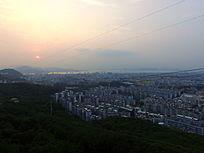 俯视厦门园林城市风光