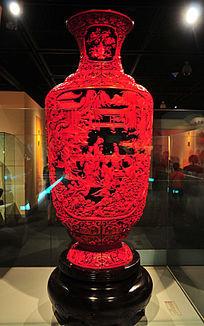燕京八绝之剔红四大名著故事对瓶