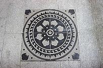 花纹理地砖雕刻