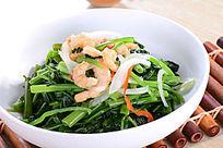 马拉盏虾干炒空心菜