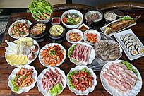 肉片海鲜菜品