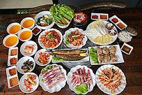 蔬菜海鲜菜品
