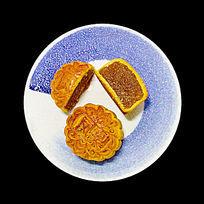 中秋月饼与盘子