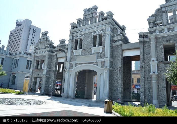 哈尔滨老道外古门图片