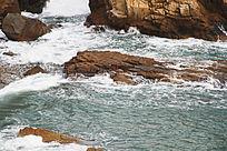 激流的海水摄影图