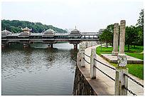 历史建筑风雨桥