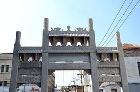 文艺中华巴洛克建筑门