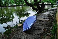 安徽宏村南湖石板路