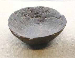 抗战时期无人区自制木碗