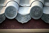 屋檐雕刻花纹图案