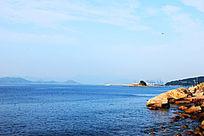 蓝色大海风景图