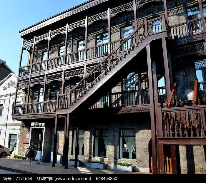 中华巴洛克建筑楼梯图片