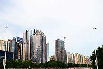 城市明丽建筑群景观