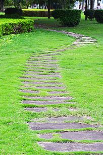 公园石头小路