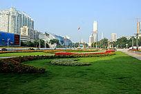 广西民族广场花草绿化
