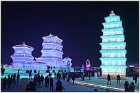 中国古建筑冰雕