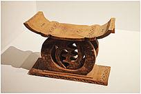 非洲木雕枕头