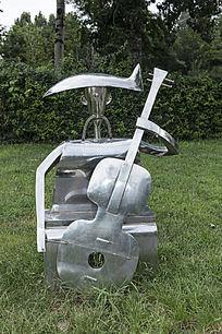 拉小提琴艺术雕刻