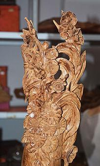 植物花卉木雕