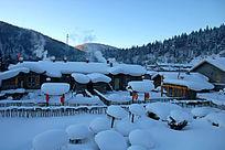 中国雪乡梦幻家园景区雪蘑菇