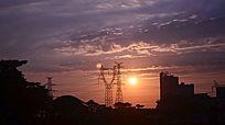 金色的日落风景图片
