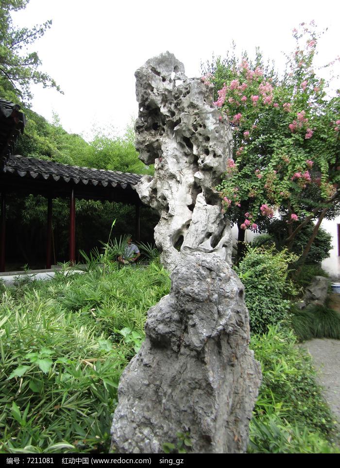 留园太湖石摄影图片