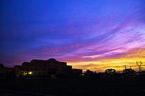 美丽的天空晚霞风景图片
