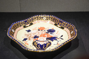 十九世纪精美手绘花卉纹托盘