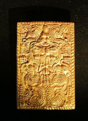 西周方形兽纹金饰件