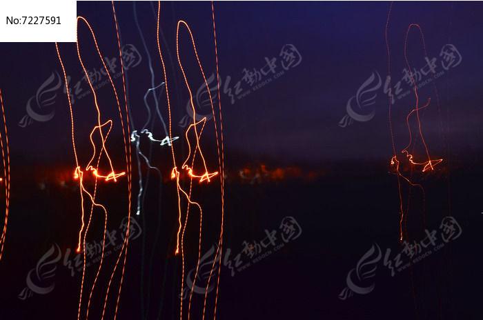 夜幕下的光线图片图片