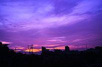 紫色祥云晚霞风光图片