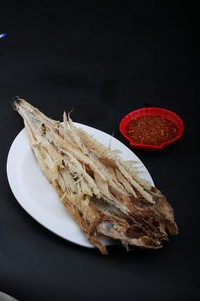 韩国菜品手撕明太鱼