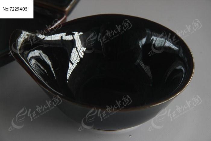 韩式黑釉餐具图片