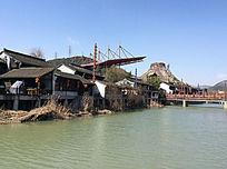 宋城水边风景