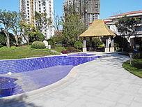 游泳池亭子