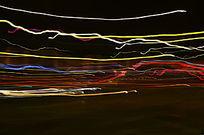 七彩光线轨迹线条图片