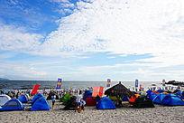 海边帐篷风景