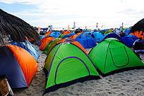 海边帐篷露营