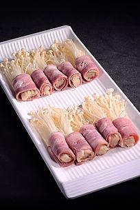 金针菇肥羊肉卷